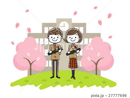 卒業式イメージ:男の子と女の子 27777696