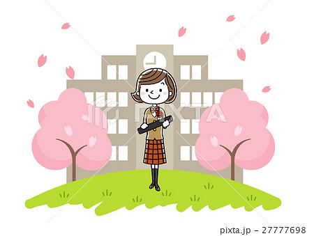 卒業式イメージ:女の子 27777698