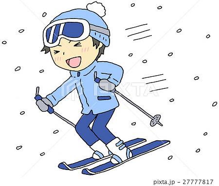 スキー 男の子のイラスト素材 27777817 Pixta