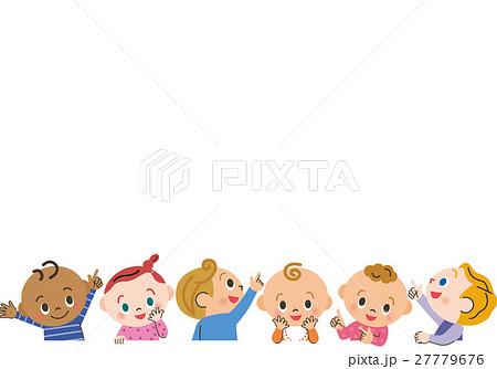 上を見る赤ちゃんのイラスト素材 27779676 Pixta