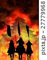 戦国イメージ(炎と騎馬武者) 27779968