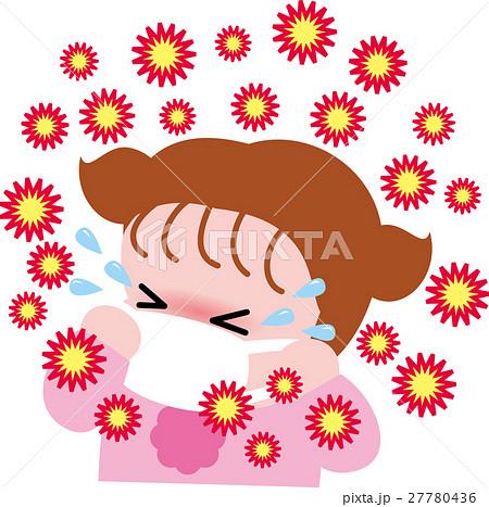 花粉症の女の子04 風邪予防・インフルエンザ 27780436