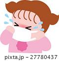 花粉症 女の子 マスクのイラスト 27780437