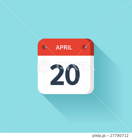 April 20. Isometric Calendar Icon With Shadow 27780712