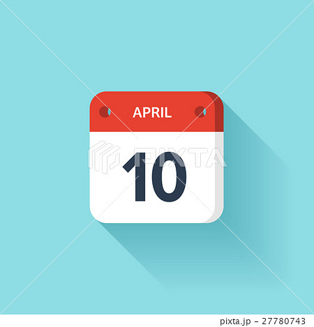 April 10. Isometric Calendar Icon With Shadow 27780743