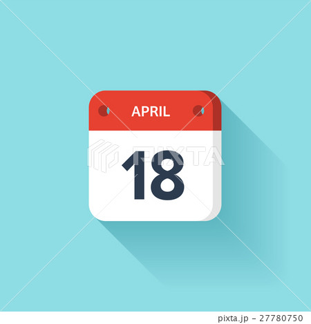 April 18. Isometric Calendar Icon With Shadow 27780750