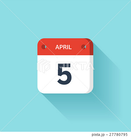 April 5. Isometric Calendar Icon With Shadow 27780795