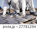 屋根工事 瓦の葺き替え 古い瓦を剥がす 27781294