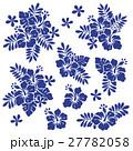 花 花柄 ハイビスカスのイラスト 27782058