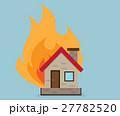 火事 住宅 住居のイラスト 27782520