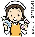 窓ふき 洗剤 雑巾のイラスト 27786168