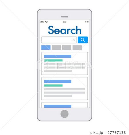 イラスト素材スマホ検索のイラスト素材 27787138 Pixta