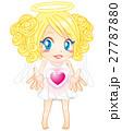 天使 ハート ベクターのイラスト 27787880