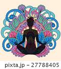 black girl in yoga lotus background 27788405