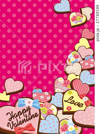 【フレーム】バレンタインスイーツg縦 27788586