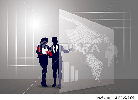 Silhouette Businesspeople Group Business Man And 27791434