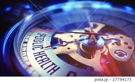 Public Health - Text on Pocket Watch. 3D 27794175