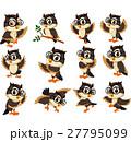 鳥 マンガ ふくろうのイラスト 27795099