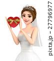 プレゼントをもらって喜ぶかわいい花嫁 27796977