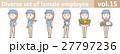 帽子とポロシャツを着た女性従業員vol.15 27797236