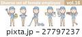 帽子とポロシャツを着た女性従業員vol.16 27797237
