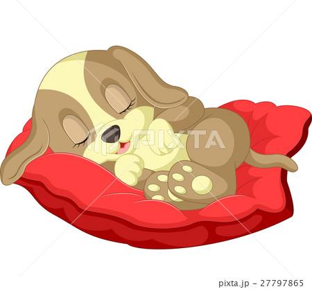 Cute dog cartoon sleeping 27797865