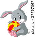 illustration of cute rabbit cartoon 27797867