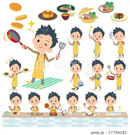 school boy Brown Blazer cooking 27799282