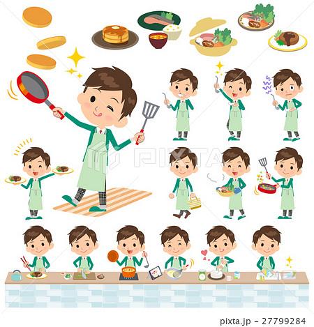 school boy Green Blazer cooking 27799284