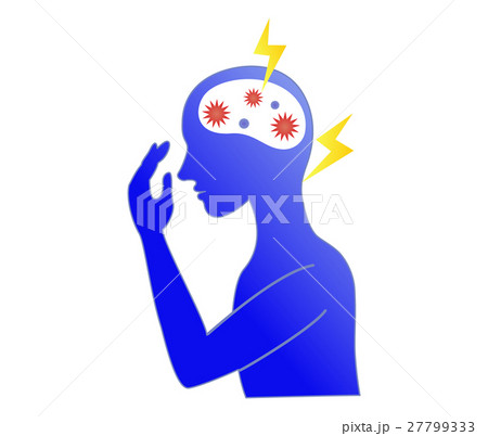 頭痛に悩むストレスフルな人 27799333