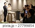 結婚式 ケーキ入刀 27799854