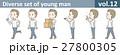 Tシャツとジーンズを着た若い男性vol.12 27800305