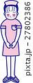 女性看護師おじぎ 全身 27802386