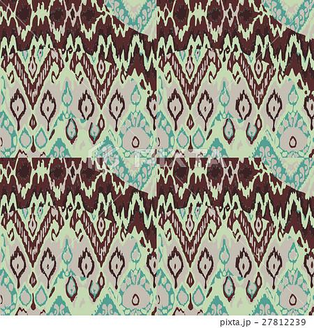 Colored seamless ethnic vector print patternのイラスト素材 [27812239] - PIXTA