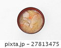 豚汁 白バック 27813475