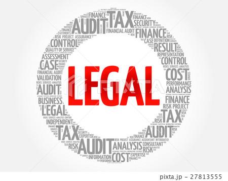 legal word cloudのイラスト素材 27813555 pixta