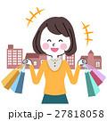 買い物 女性 ショッピングのイラスト 27818058