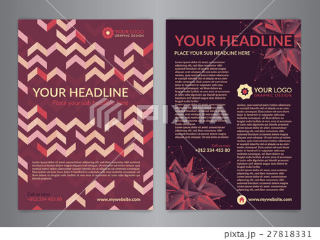 A4 Business brochure flyer design layout template.のイラスト素材 [27818331] - PIXTA