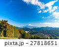 空 青空 富士山の写真 27818651