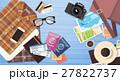 荷物 パスポート 旅券のイラスト 27822737