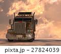 トレーラー セミトレーラー cgのイラスト 27824039
