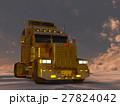 トレーラー セミトレーラー cgのイラスト 27824042