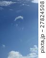 自然 気象 何雲?口ひげ雲?風でちぎれた雲が捻じれるように回転しながら動いています 27824508