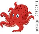 Cartoon smiling octopus 27829341