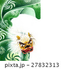 獅子舞 色鉛筆画 正月のイラスト 27832313