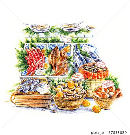 南ヨーロッバの風景 魚市場 27833029
