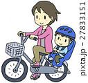 自転車 二人乗り 親子のイラスト 27833151