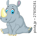 cute rhino cartoon 27836281