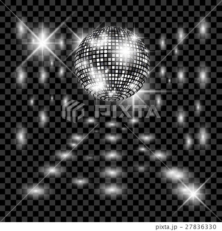 Disco ball with glow. Really transparency effect. 27836330