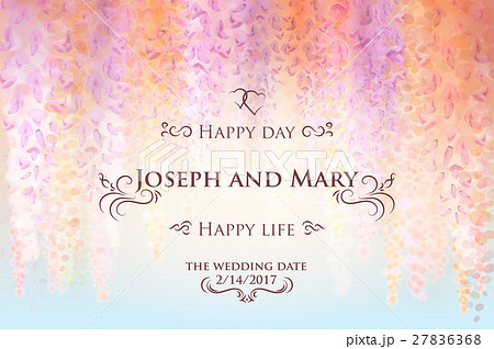 save the date wedding invitation card templateのイラスト素材